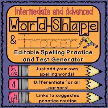 Editable Spelling Practice and Test Generator-Intermediate and Advanced