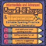 Editable Spelling Practice and Test Generator-Intermediate