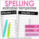 Editable Spelling Test Template