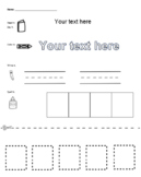 Editable Spelling Worksheet
