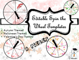 Editable Spinner Game Template - Autumn Themed