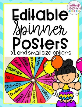 Editable Spinner Posters