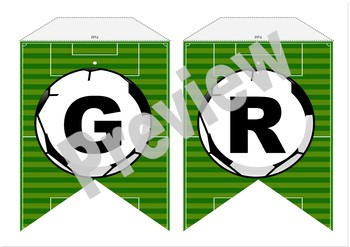 Editable Sport Inspired Soccer theme Banners Word wall boards back to school