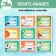 9 Different Editable Sports Awards