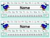 Editable Spring Birds Nameplates