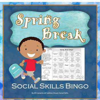 Editable Spring Break Social Skills Challenge, perfect for a send-home packet