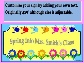 Editable Spring Themed Signs