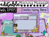 Editable Spring and Easter Morning Message Slides with and Without Timers