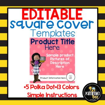 Editable Square Cover Templates