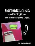 Editable Square Labels Freebie