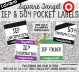 Editable Square Labels | Target Adhesive Pocket Labels | I