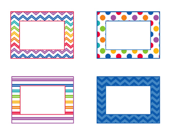 Editable Square Name Plates, Tags, and Labels