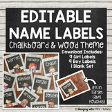 Editable Square Name Tags or Labels