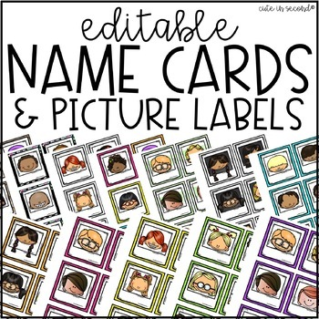 Editable Square Name and Picture Labels