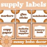 Editable Square Supply Labels for Target Pocket Labels {Sunny Boho Decor}