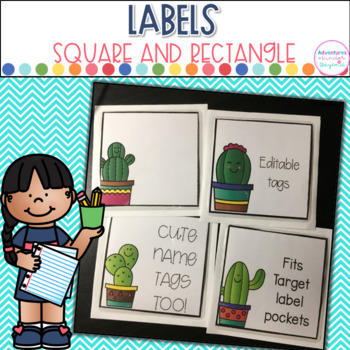 Editable Square and Rectangular Labels- For Target Adhesive Pockets