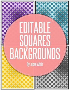 Editable Squares Backgrounds