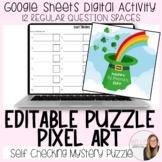 Editable St. Patrick's Day (12 question) Puzzle Pixel Art