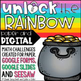 Unlock the Rainbow | St. Patrick's Day | Math Games | Editable Challenges