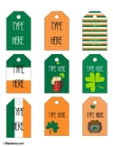 Editable St. Patrick's Day Gift Tags