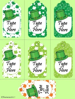Editable St. Patrick's Day Label-Gift Tags