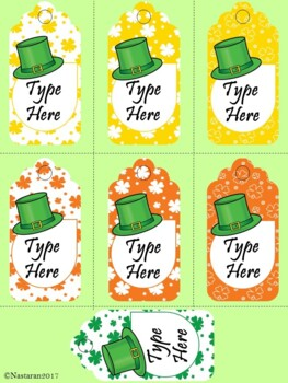 Editable St. Patrick's Day Gift Tags  (Medium Size)