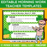 Editable St. Patrick's Day PowerPoint + Google Slides Temp
