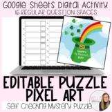 Editable St. Patrick's Day Puzzle Pixel Art (16 regular qu