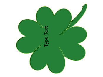 Editable St Patrick S Day Shamrock Four Leaf Clover Labels Tpt