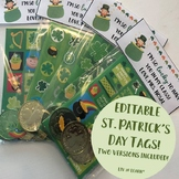 Editable St. Patrick's Day Tags!