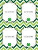 Editable St. Patrick's Day Labels (4 sizes & 6 designs)
