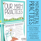Editable Standards for Mathematical Practice Posters - Student Friendly Language