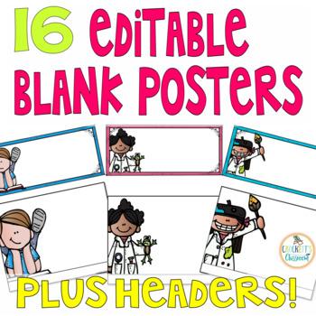 Editable Standards/Objectives Posters (Melonheadz Edition)