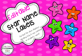 Editable Star Name Labels