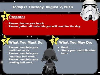 Editable Star Wars Morning Board Templates