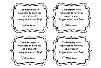 photo regarding Starburst Valentine Printable identify Editable Starburst Valentines