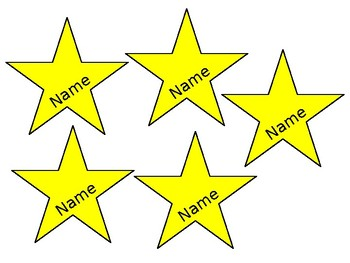 Editable Stars of the Week