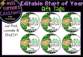 Editable Start Of the Year Gift Tags