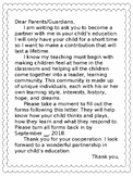 Editable Start of the year Parent Communication English an