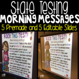 Editable State Testing Morning Messages