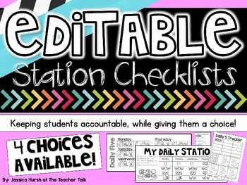 Editable Station Checklists