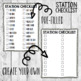 Editable Station Sign Inserts/ Small Group Center Frames IKEA/ I Can Statements