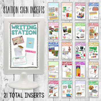 Editable Station Sign Inserts/ Small Group Center Frames IKEA/ I Can ...