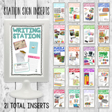 Editable Station Sign Inserts/ Small Group Center Frames I