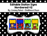 Editable Station Signs