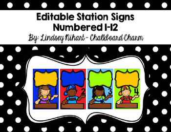 Editable Station Signs