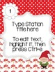 Editable Station Signs - Garden Gnome Theme