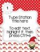 Editable Station Signs - Garden Gnome Theme