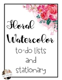 Editable Stationary - Floral Watercolor Theme