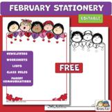 Editable Stationery FREEBIE (Karen's Kids Printables)